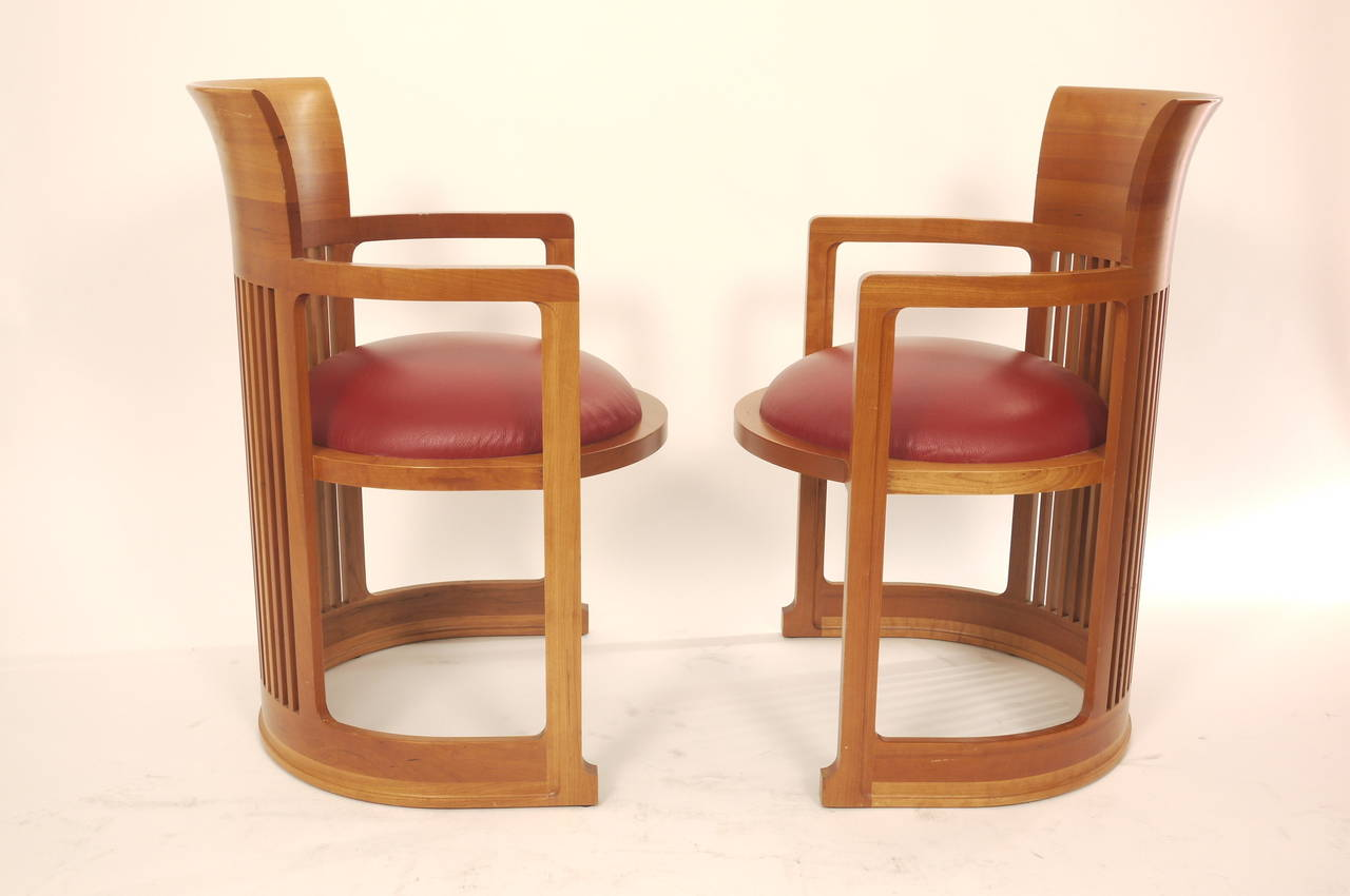 Frank Lloyd Wright Chairs Pair Of Frank Lloyd Wright Chairs For Cassina At 1stdibs
