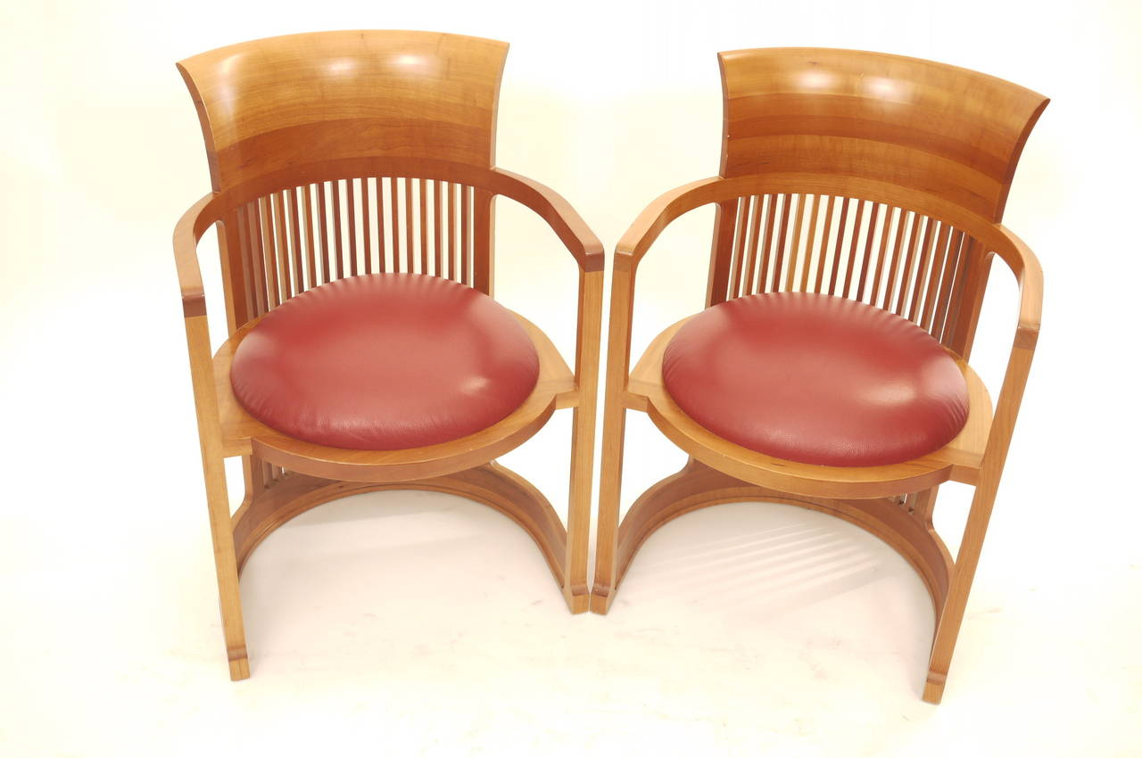 frank lloyd wright chairs hammock swing chair canada pair of for cassina at 1stdibs
