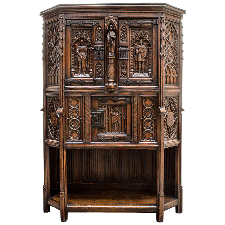 Gothic Cabinet At 1stdibs