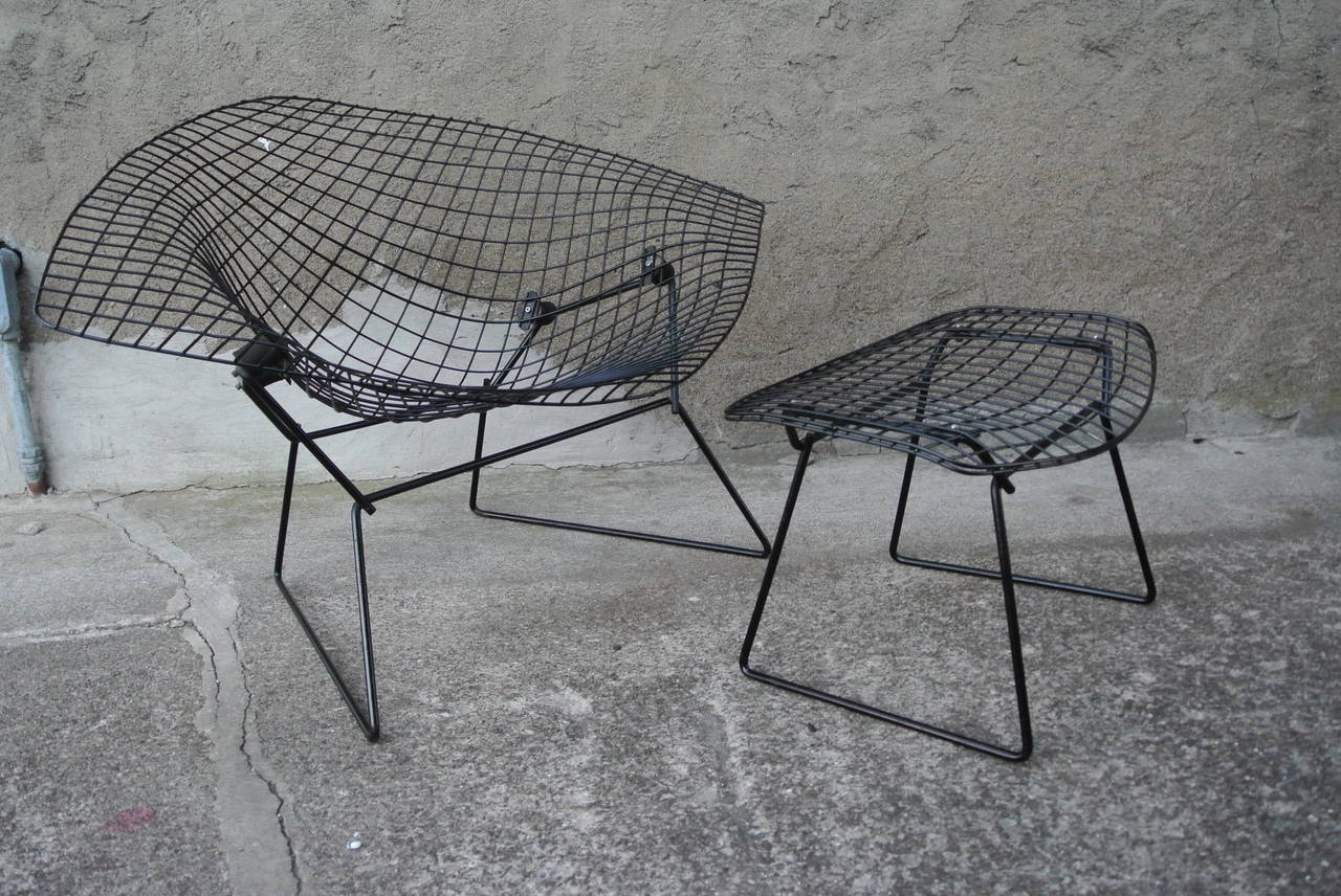 Harry Bertoia Chair Diamond Chair W Ottoman By Harry Bertoia For Knoll At