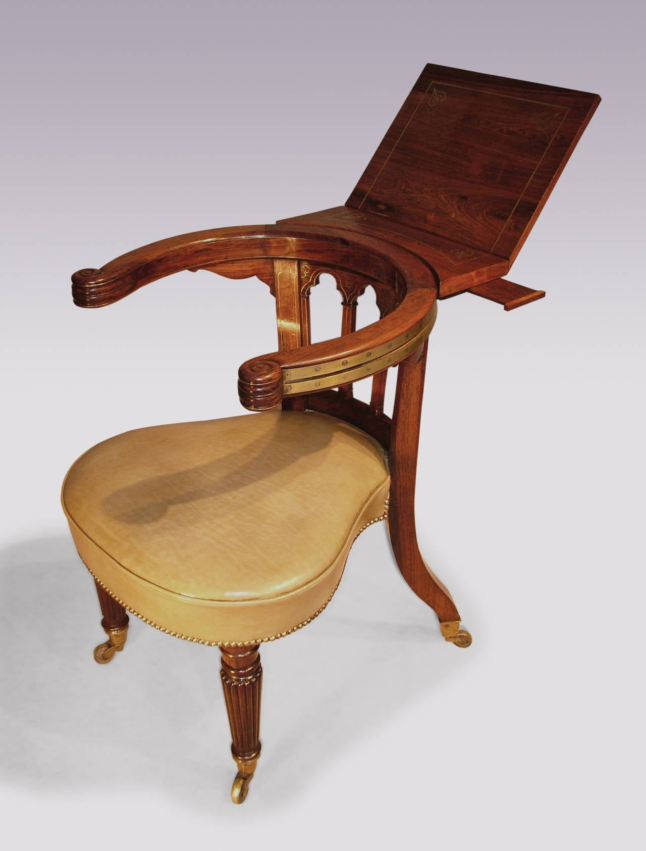 Reading Chairs Early 19th Century Regency Period Gillows Rosewood