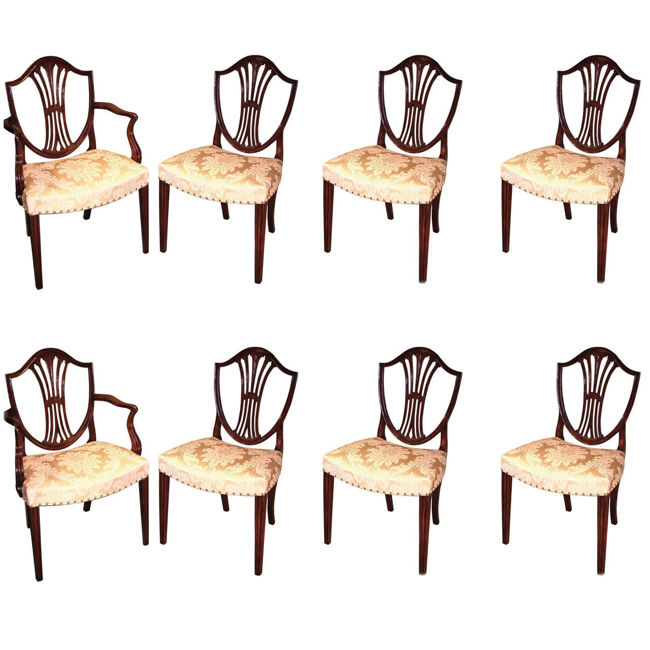 set of six dining chairs for sale chair and stool hepplewhite period mahogany