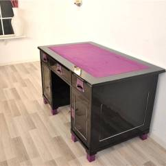Lilac Office Chair Bedroom Covers Art Deco Ladies Desk Black For Sale At 1stdibs