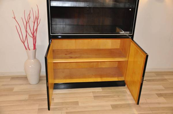 Black Art Deco Showcase Cabinet 1stdibs