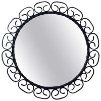 1960s, Mid-Century French Wrought Iron Wall Mirror For ...