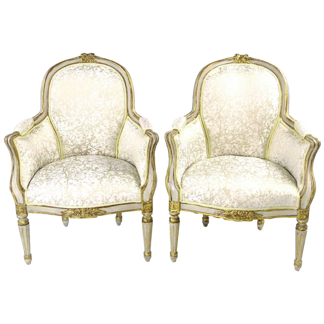 19th Century Louis XVI Style Bergere Type Armchairs at 1stdibs