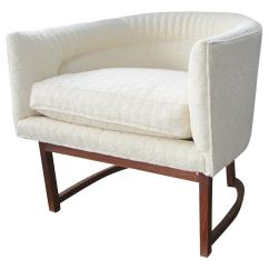 Tub Chair Covers For Sale Babies R Us Nursing Upholstered On Walnut Base At 1stdibs