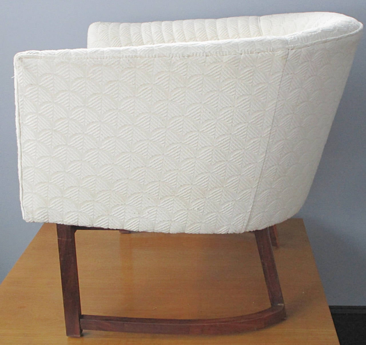 tub chair covers for sale springs rocking chairs upholstered on walnut base at 1stdibs