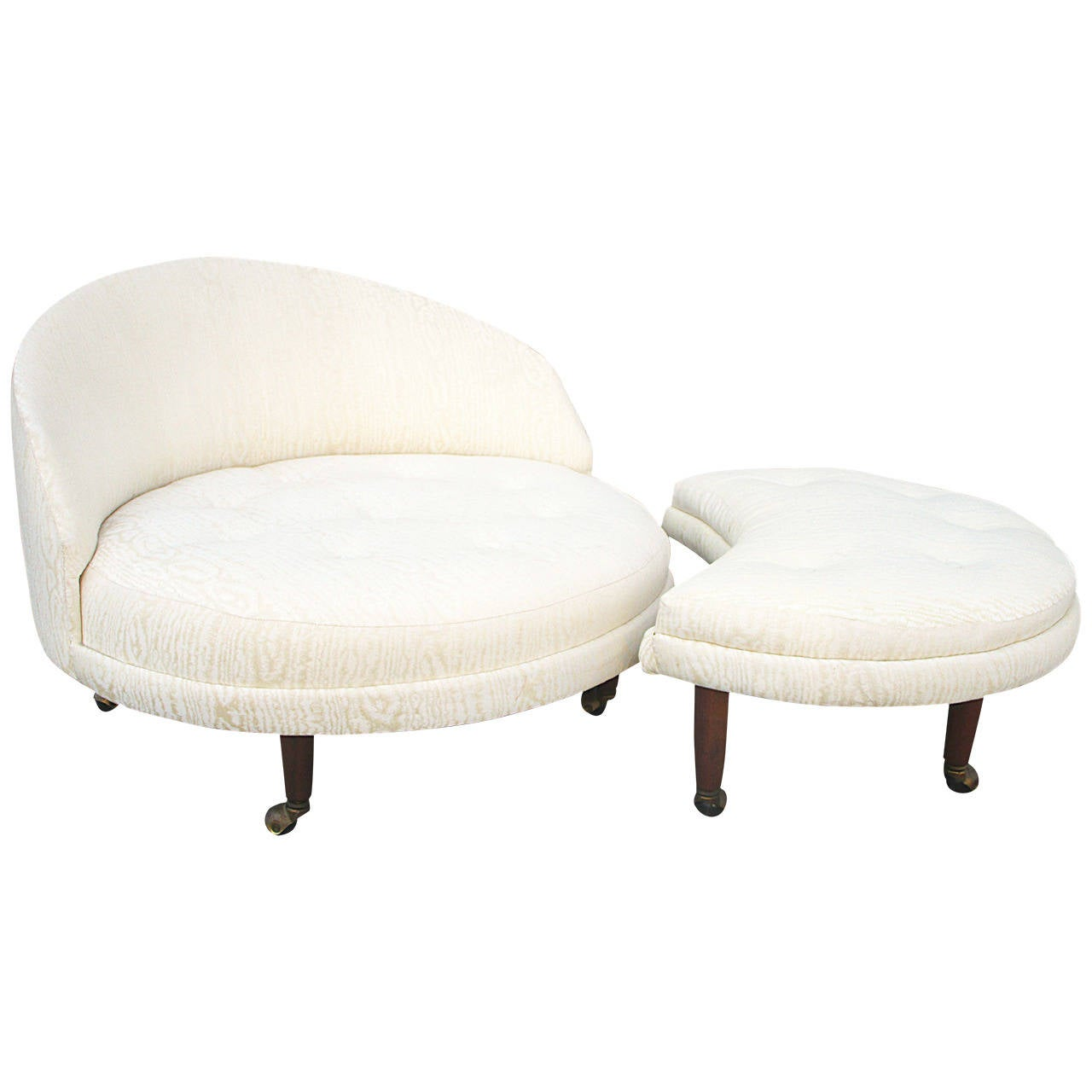 circular lounge chair serta executive office review adrian pearsall round with crescent ottoman at 1stdibs