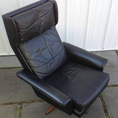 Black Leather Wingback Chair Cover By Sylwia Willow Springs Il Swivel Komfort At 1stdibs