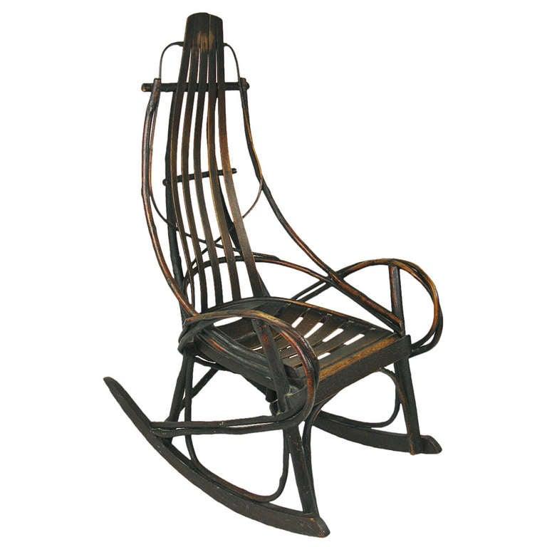 hans wegner rocking chair reclining garden chairs asda hickory twig at 1stdibs