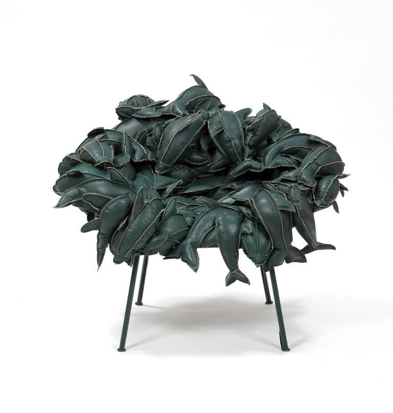 campana brothers favela chair and a half glider rocker fernando humberto - banquete dolphins in leather for sale at 1stdibs