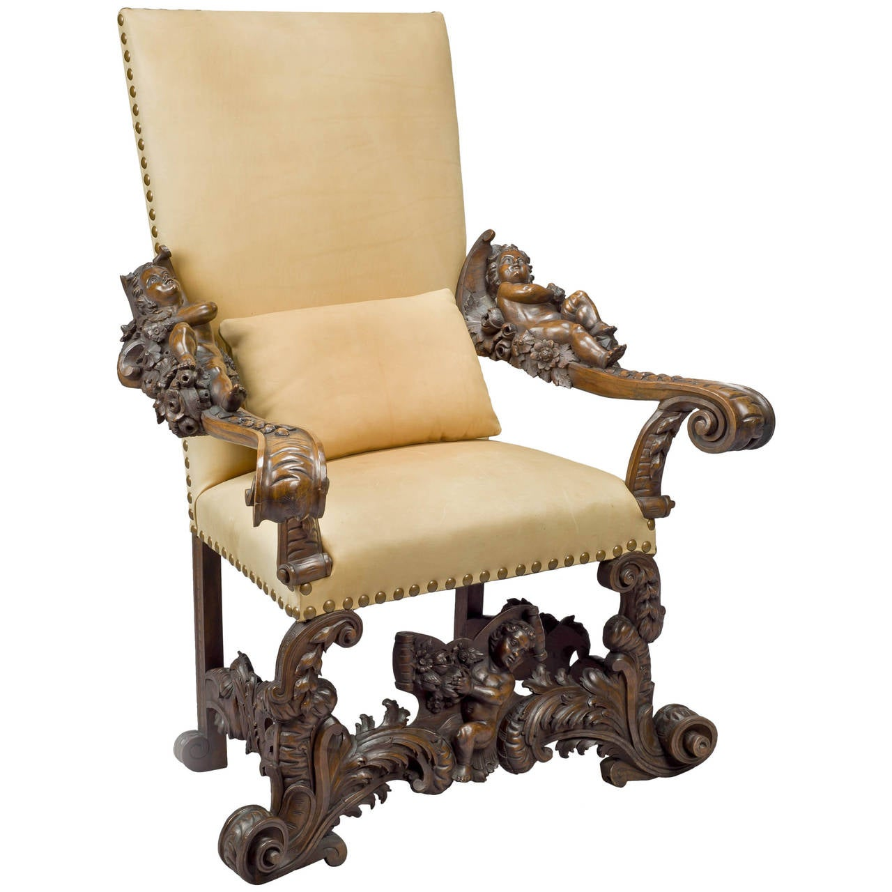 throne chair for sale the best brand venetian in manner of brustolon at 1stdibs