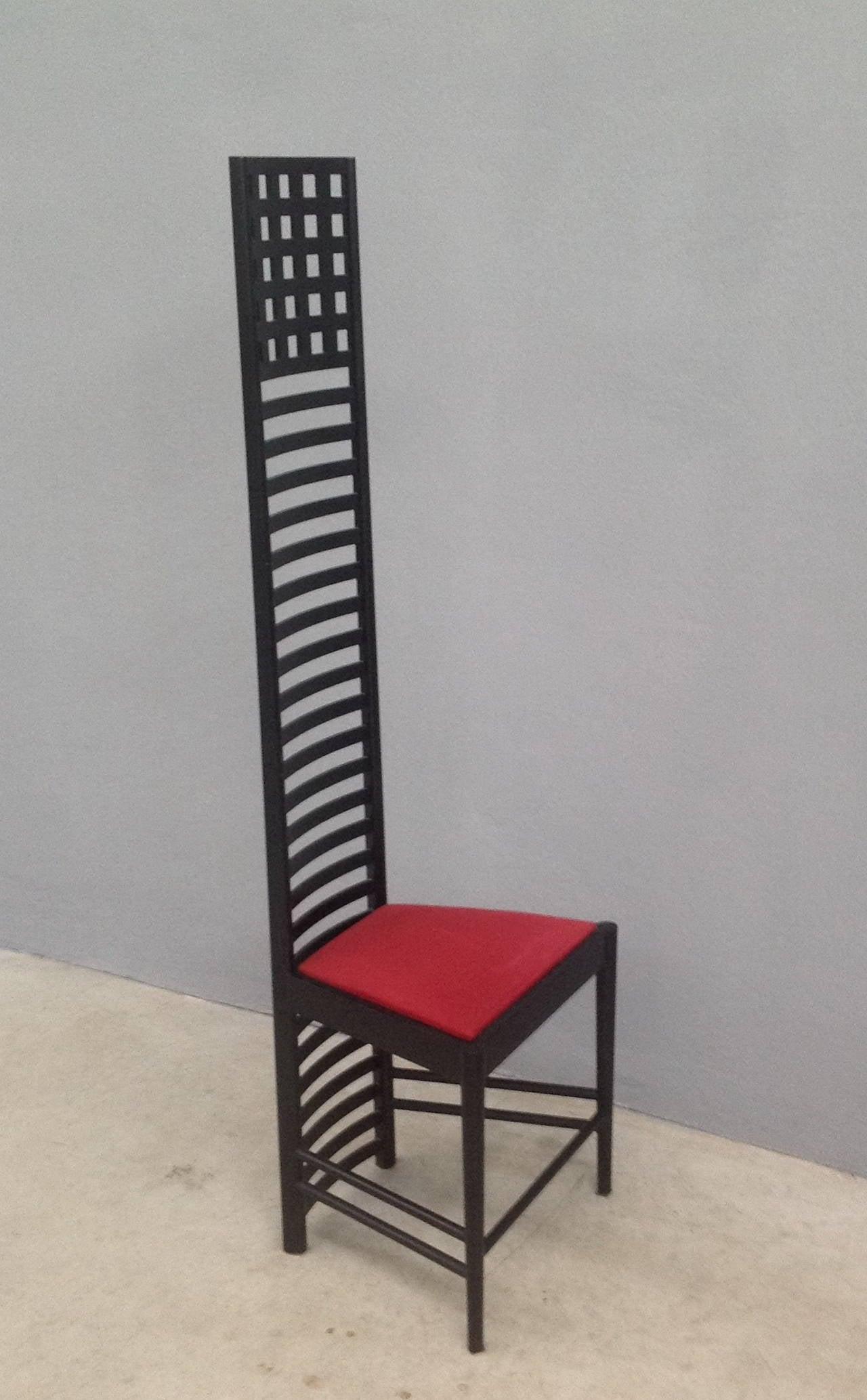 charles rennie mackintosh willow chair anti slip mat rare set of six chairs by
