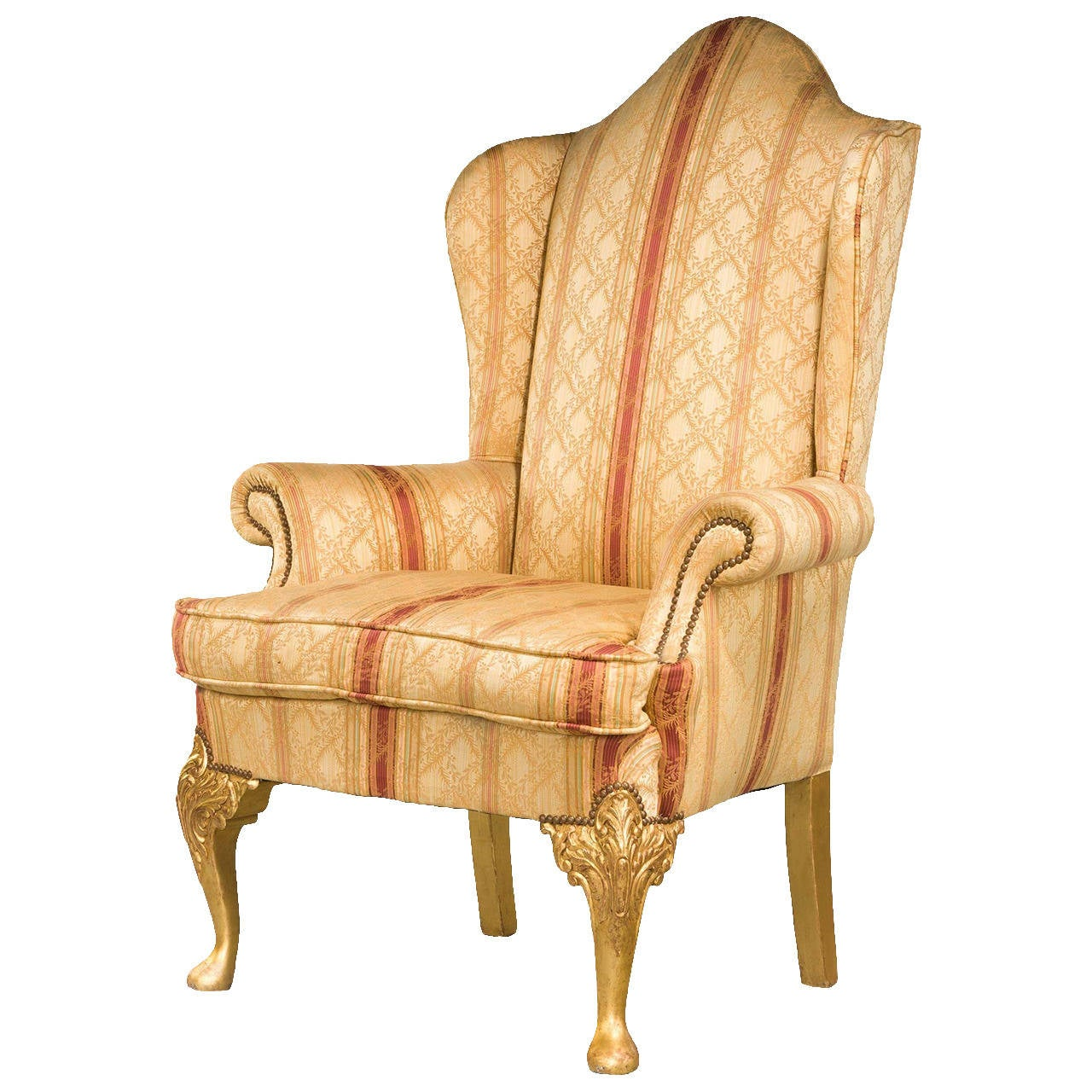 Used Wingback Chairs 19th Century Giltwood Wing Chair For Sale At 1stdibs