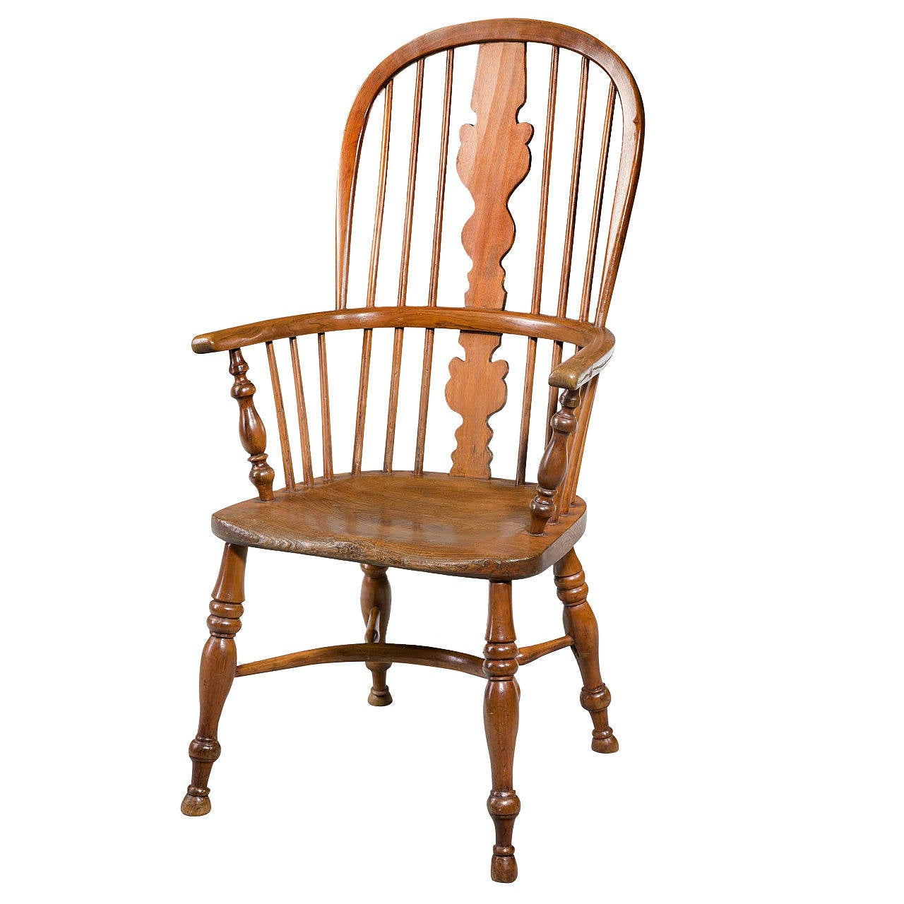 Mid19th Century Elm and Ash High Back Windsor Chair at