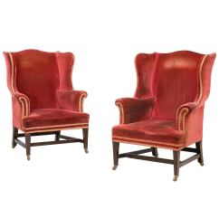 Wingback Chair For Sale Baby High Chairs Pair Of Chippendale Design Wing At 1stdibs