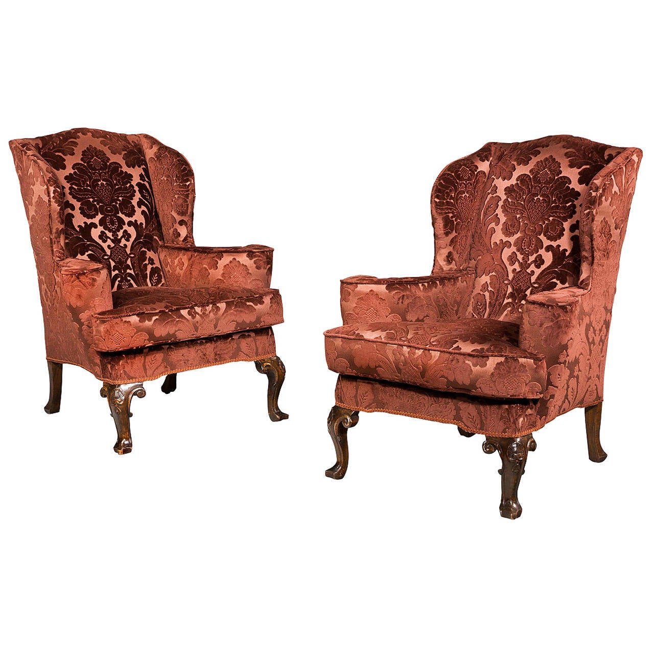 Used Wingback Chairs Pair Of 19th Century Upholstered Wing Chairs For Sale At