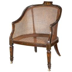 Bergere Chairs For Sale Swing Chair Seat 19th Century Ebonized And Painted At 1stdibs