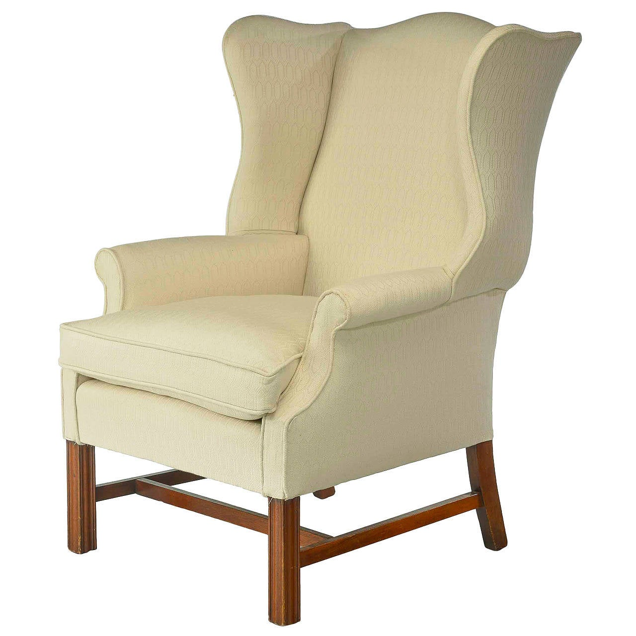 Wing Chair Chippendale Style Mahogany Framed Wing Chair For Sale At