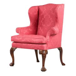 Red Wing Chair Brown Slipper George Ii Period In The Manner Of Giles Grendey