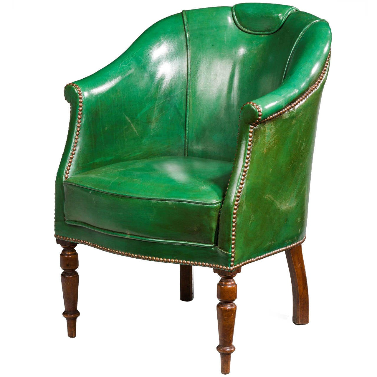 green computer chair gaiam balance ball 19th century leather at 1stdibs