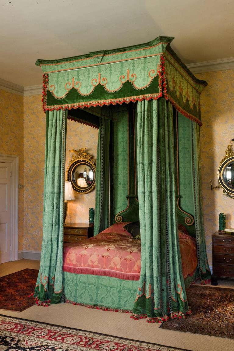 Imposing 17th Century Style Four Poster Bed at 1stdibs