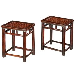 Stool Chair In Chinese Patio Glides Rectangular Pair Of Stools With Bamboo Tops For Sale At 1stdibs