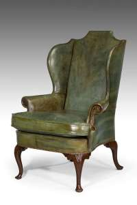 George III Design Wing Chair For Sale at 1stdibs