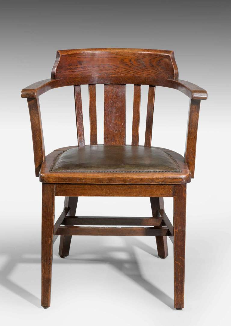 office chair not revolving metal arm chairs oak desk chair. for sale at 1stdibs