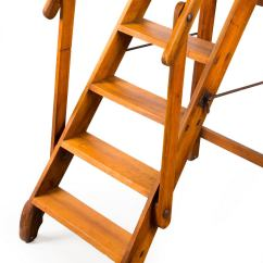 Library Chair Ladder Plans Leather Desk Australia Early 20th Century Walnut Folding At 1stdibs
