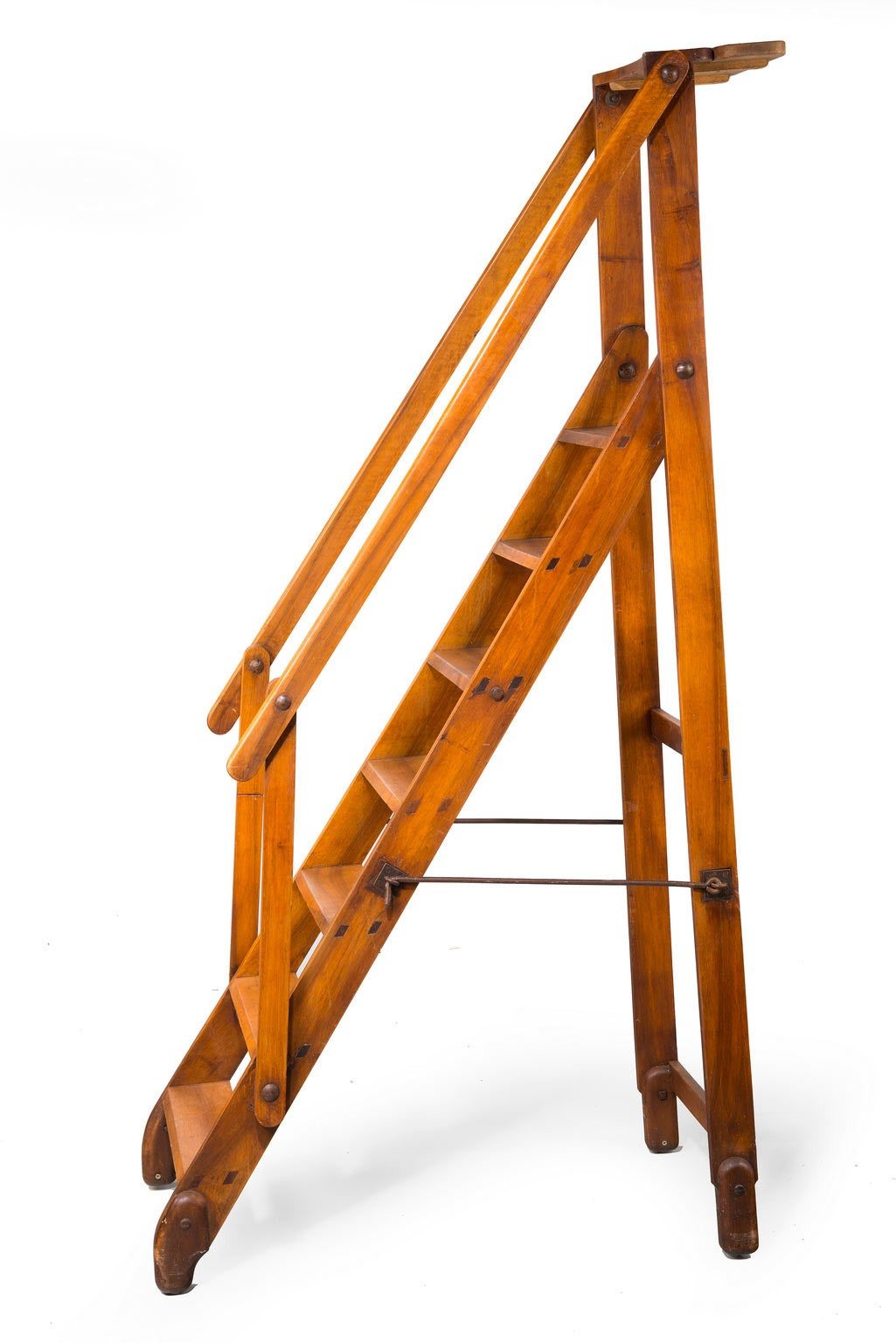 library chair ladder plans outdoor patio table and chairs cover early 20th century walnut folding at 1stdibs