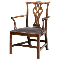 Elbow Chair Stool 1920s Rocking Chippendale Period For Sale At 1stdibs