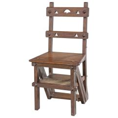 Wooden Library Chair Build A Bear 19th Century Oak Folding For Sale At 1stdibs