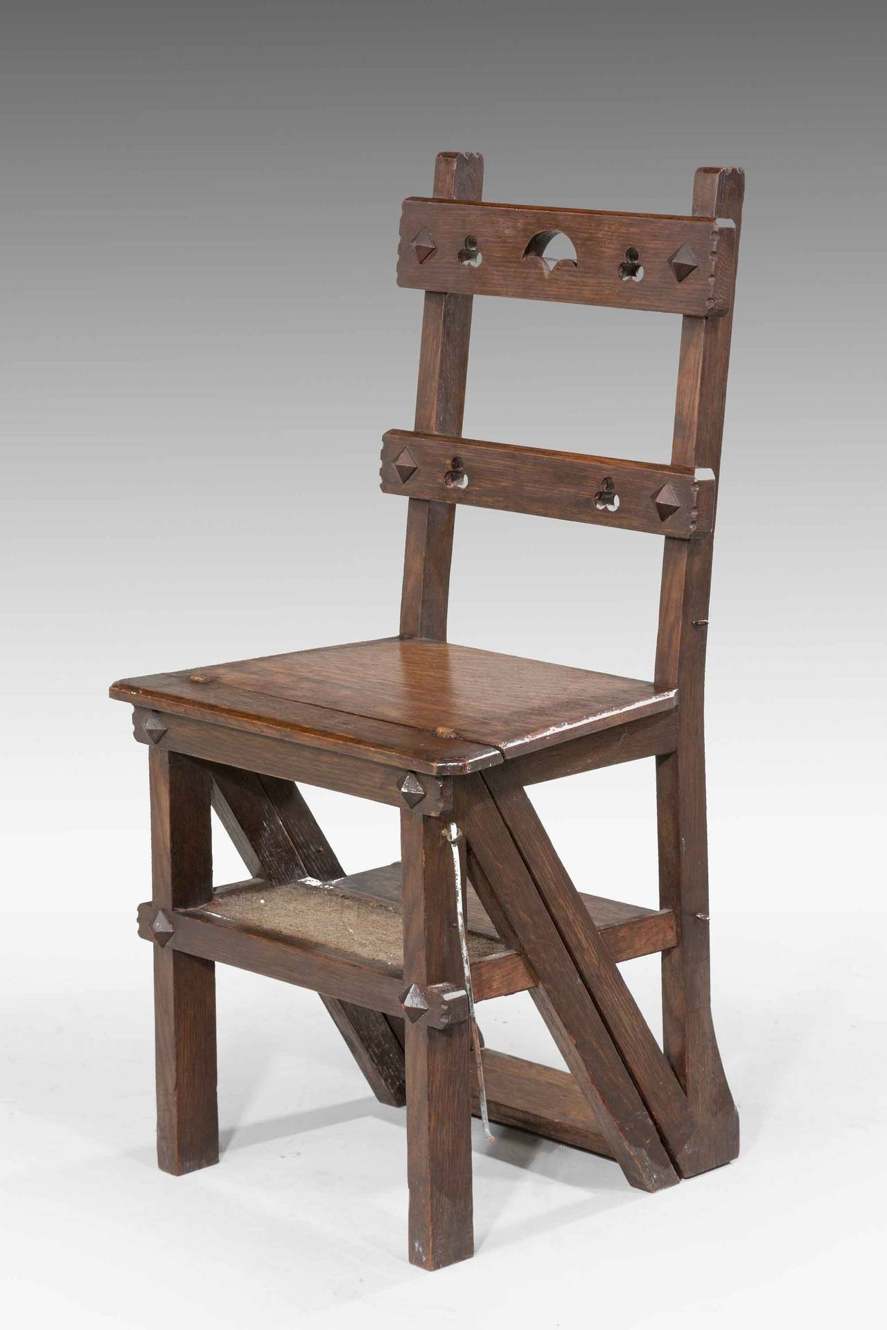 wooden library chair bedroom sitting chairs 19th century oak folding for sale at 1stdibs