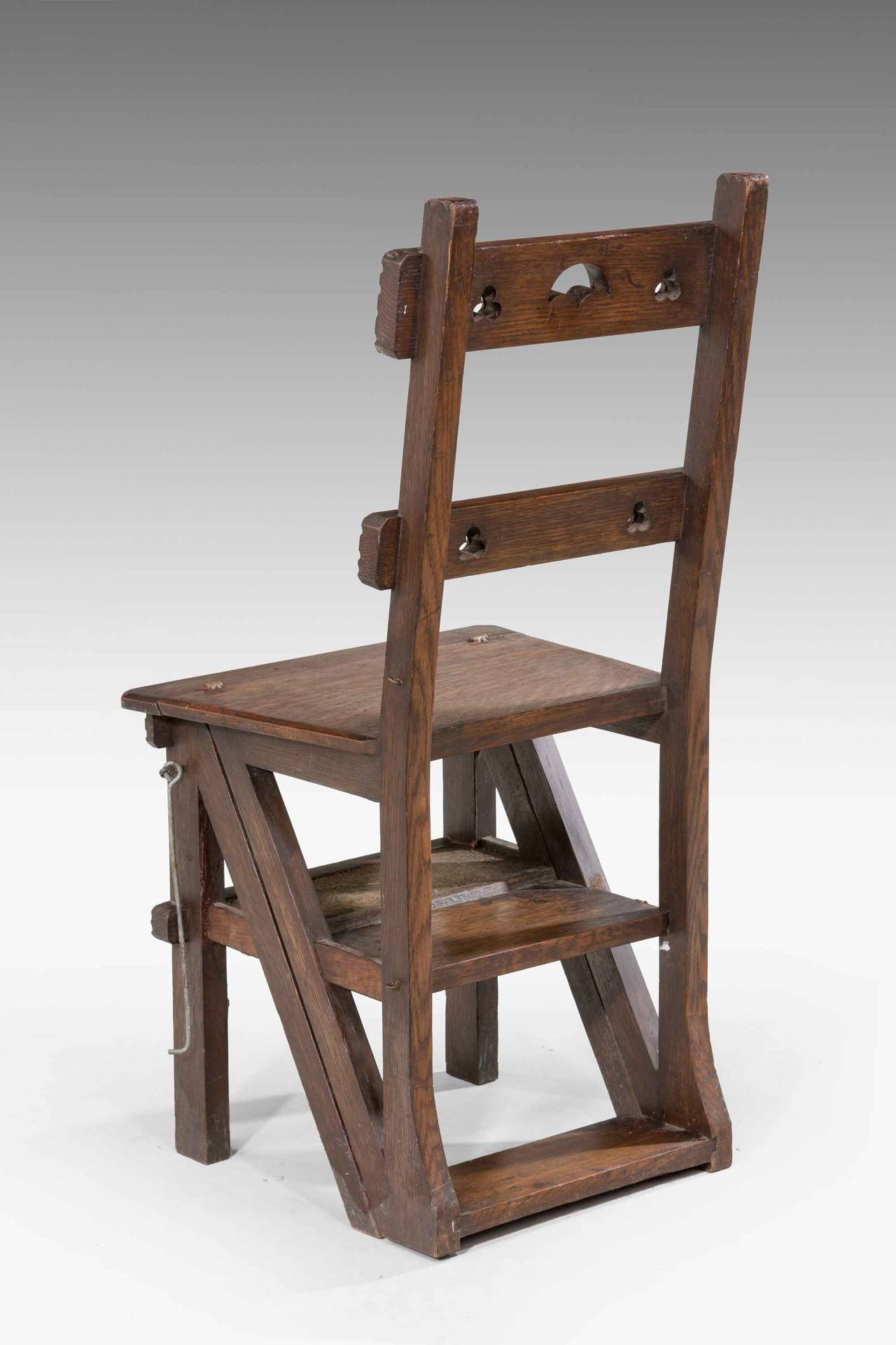 wooden library chair co lounge loods 5 19th century oak folding for sale at 1stdibs