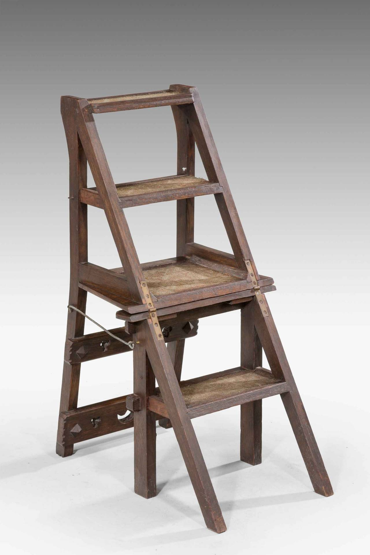 wooden library chair white modern office 19th century oak folding for sale at 1stdibs