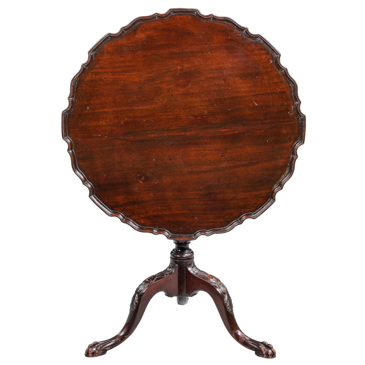 Dish Chair Chippendale Style Mahogany Dish Top Tilt Table For Sale At
