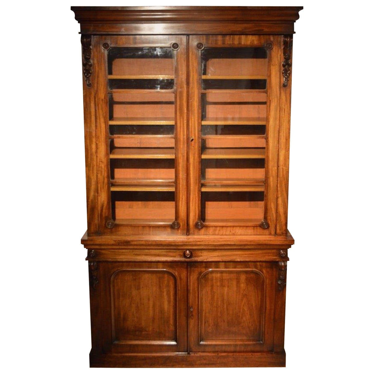 Beautiful Mahogany Victorian Period Antique Two Door