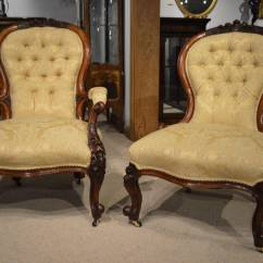 Victorian Occasional Chair Rubbermaid High Pair Of Walnut Period Antique Chairs At 1stdibs