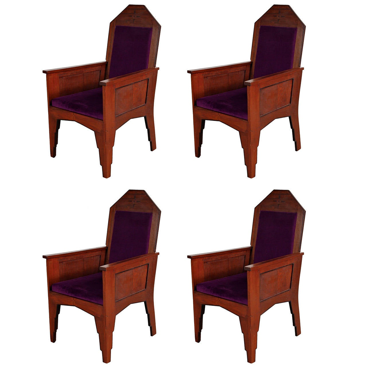 Beautiful Chairs Set Of Four Amsterdamse School Easy Chairs Circa 1920