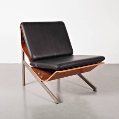 Steel Chair Manufacturing Process Dining Covers Nz Rare Cornelis Zitman Leather Easy 1964 For Sale At