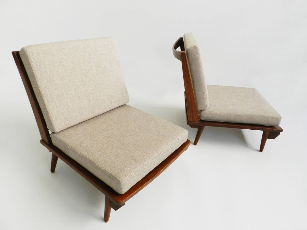 Japanese Chair Minimal Low Lounge Chairs In Japanese Style At 1stdibs