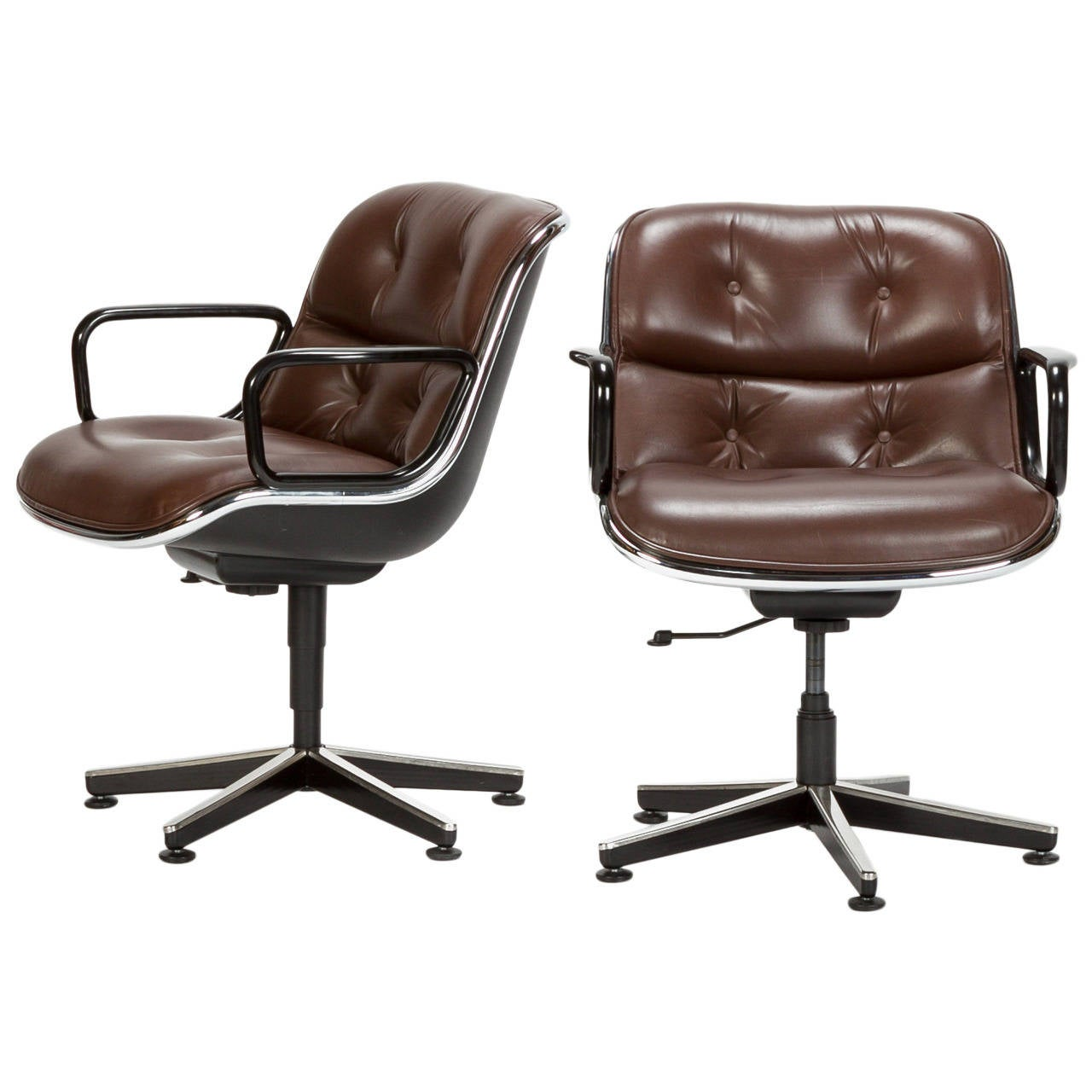 pollock executive chair replica and sofa covers for sale pair of chairs model 12e1 by charles