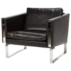 Steel Lounge Chair Covers At Jysk Leather And Jh 801 By Hans Wegner For