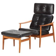 Chair Covers North East Racing Gaming Danish Teak Reclining And Ottoman By Arne Vodder