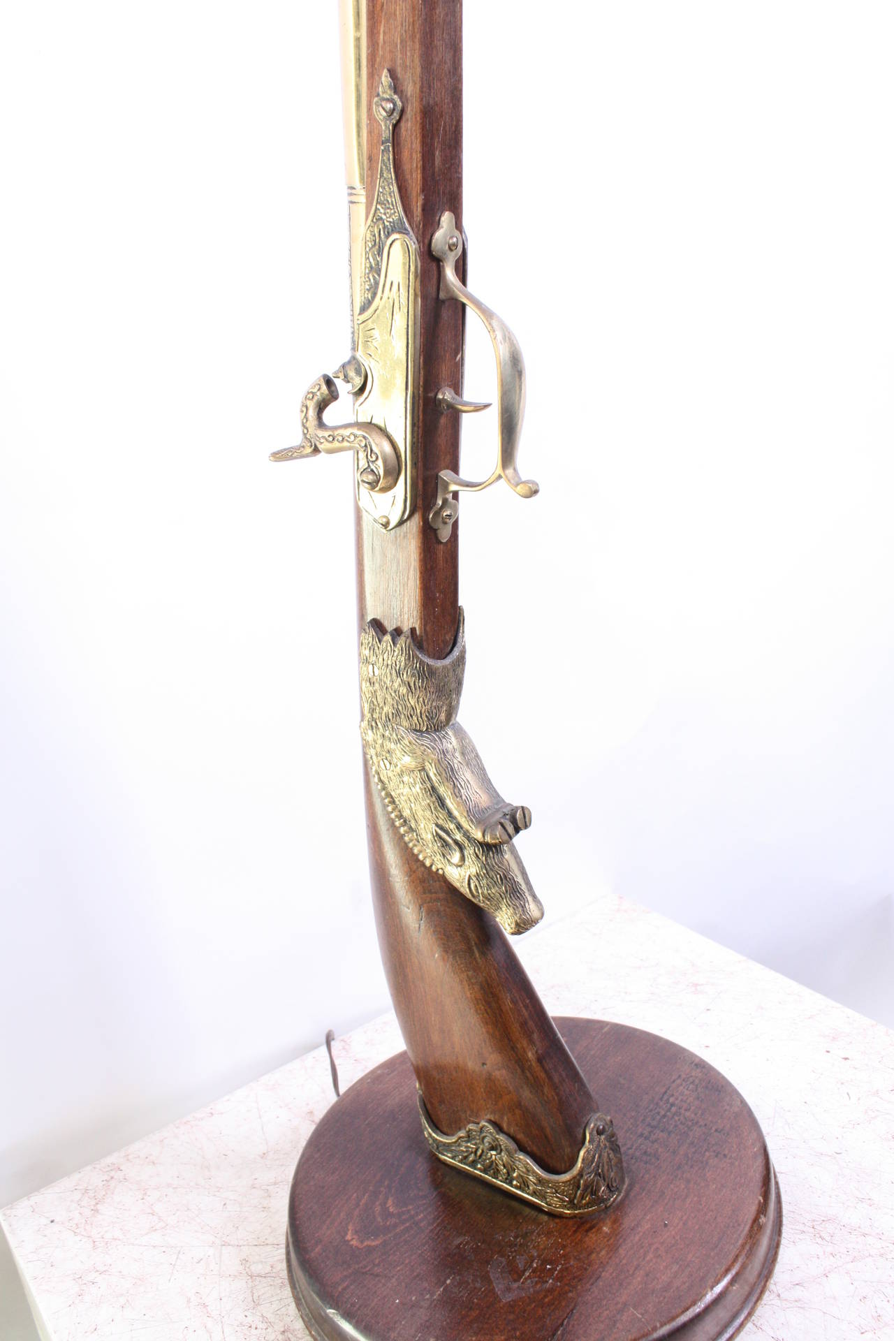Vintage Unusual Gun Floor Lamp 20th Century For Sale at