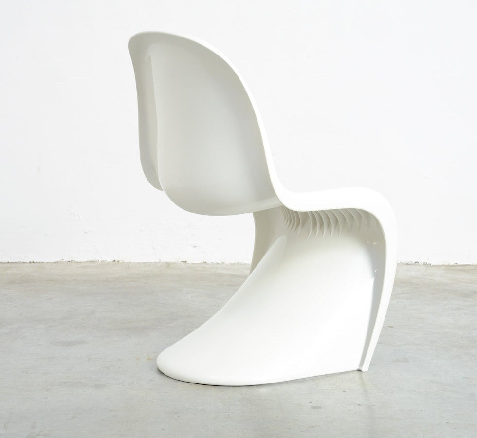 panton s chair ergonomic adelaide set of 4 stackable chairs by verner for herman miller 1973 sale