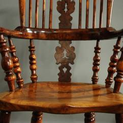 Windsor Back Chairs For Sale High Chair Covers Target Pair Of Broad Arm Burr Yew Wood