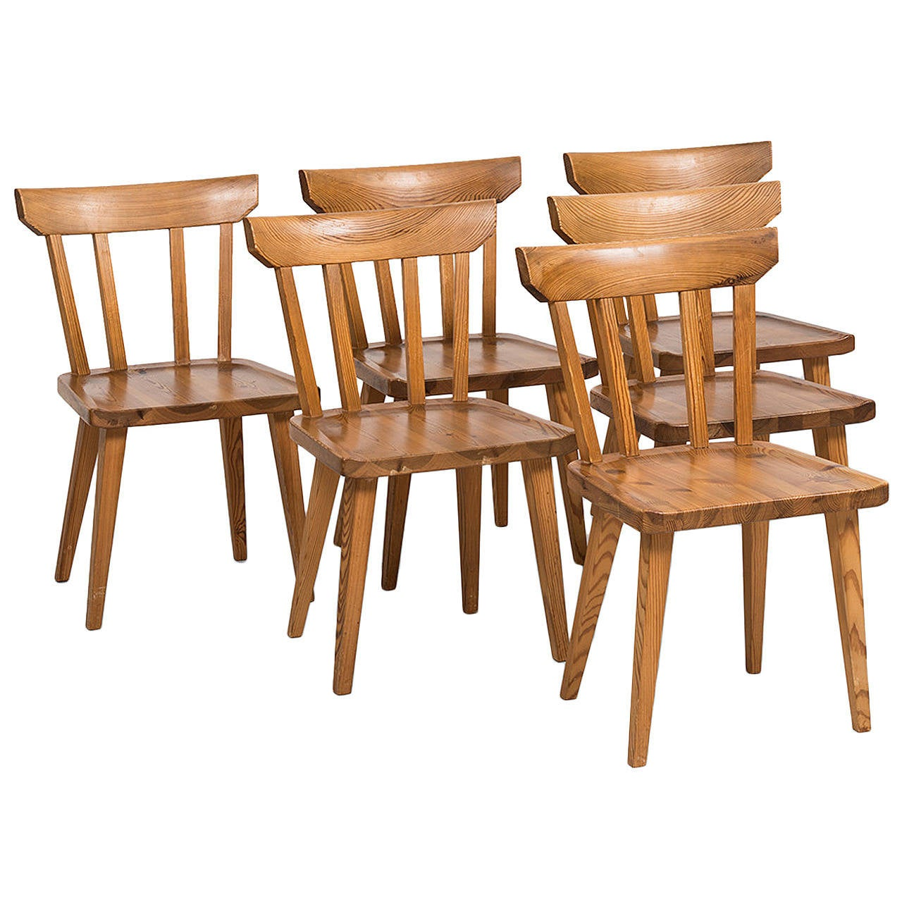 Pine Chairs Carl Malmsten Dining Chairs In Pine By Karl Andersson And